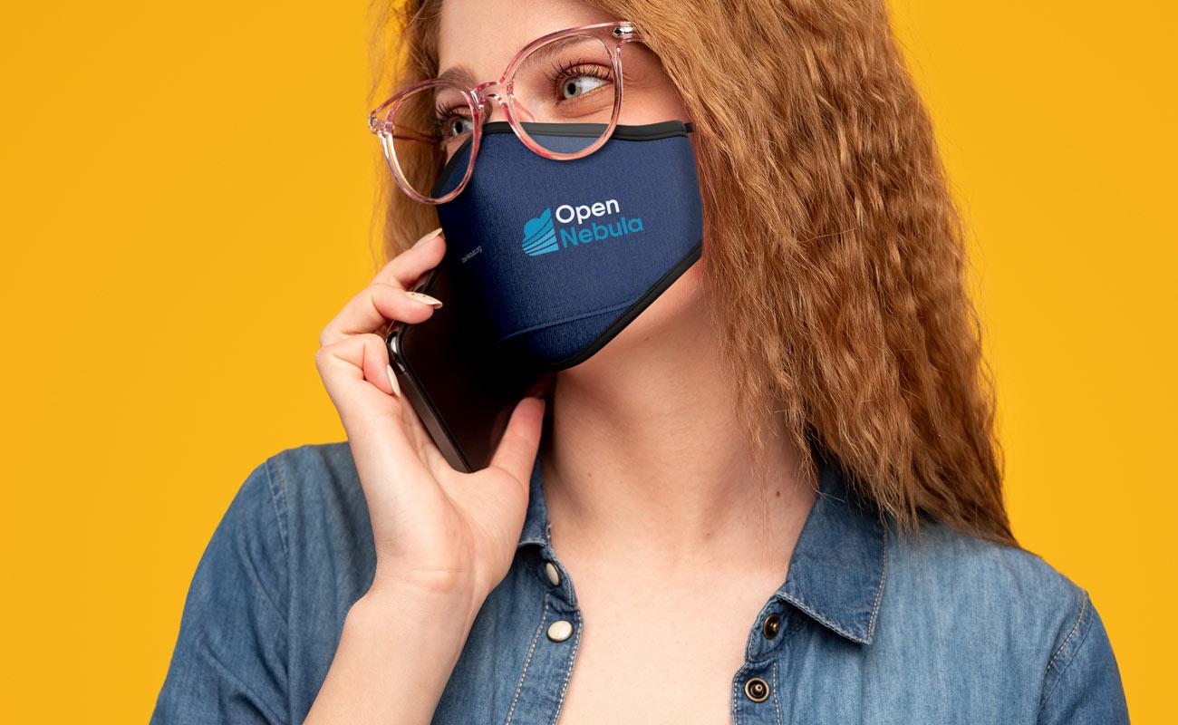 Denim - Máscaras de proteção personalizadas
