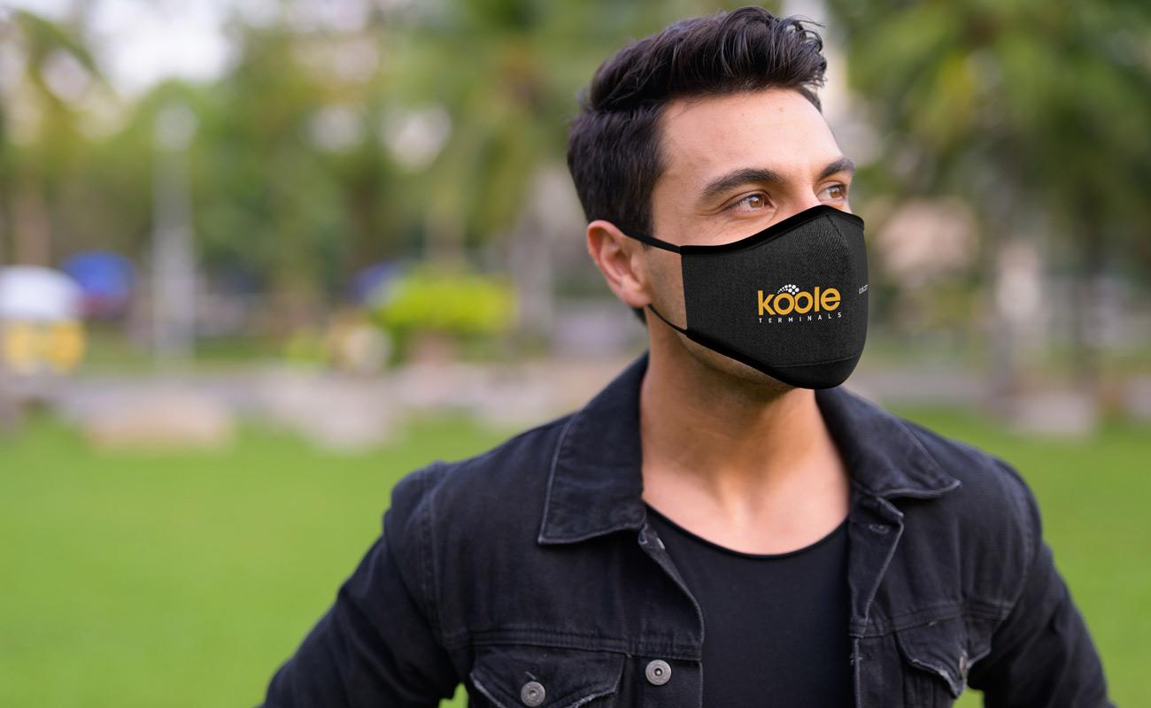 Denim - Máscaras reutilizáveis personalizadas