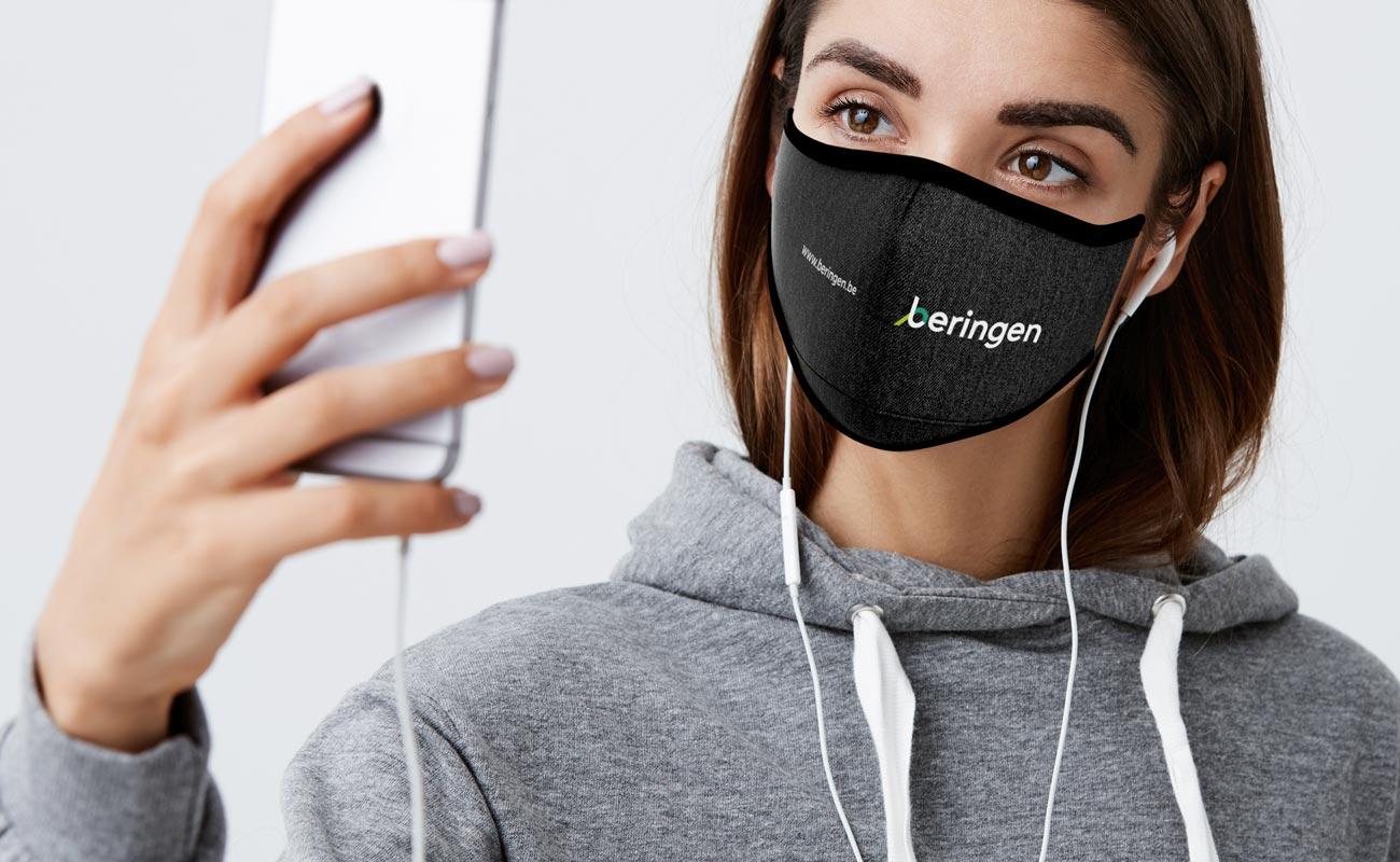 Denim - Máscaras reutilizáveis personalizáveis