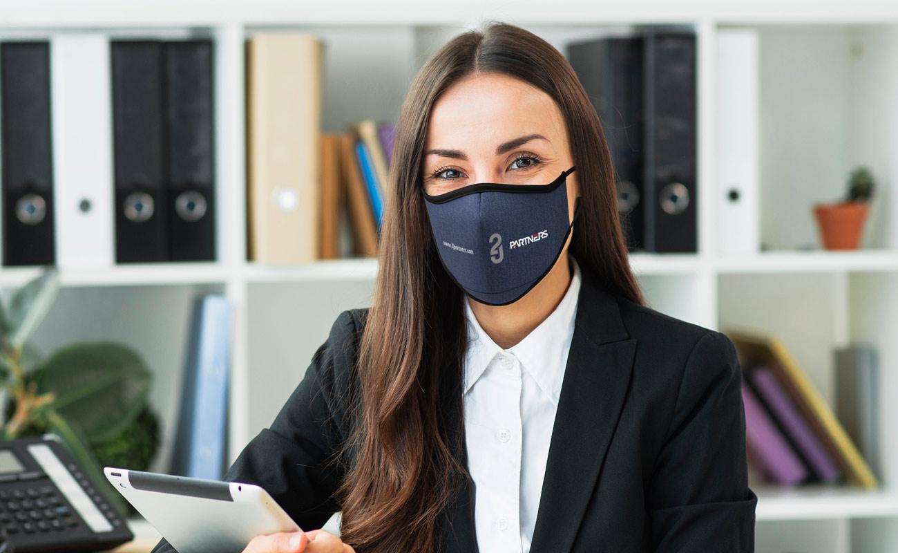 Denim - Máscaras impressas com logótipo