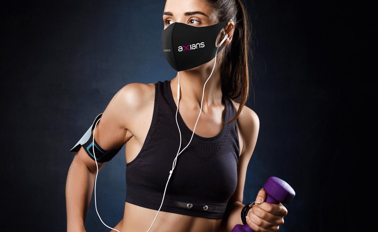 Neo - Máscaras impressas com logótipo