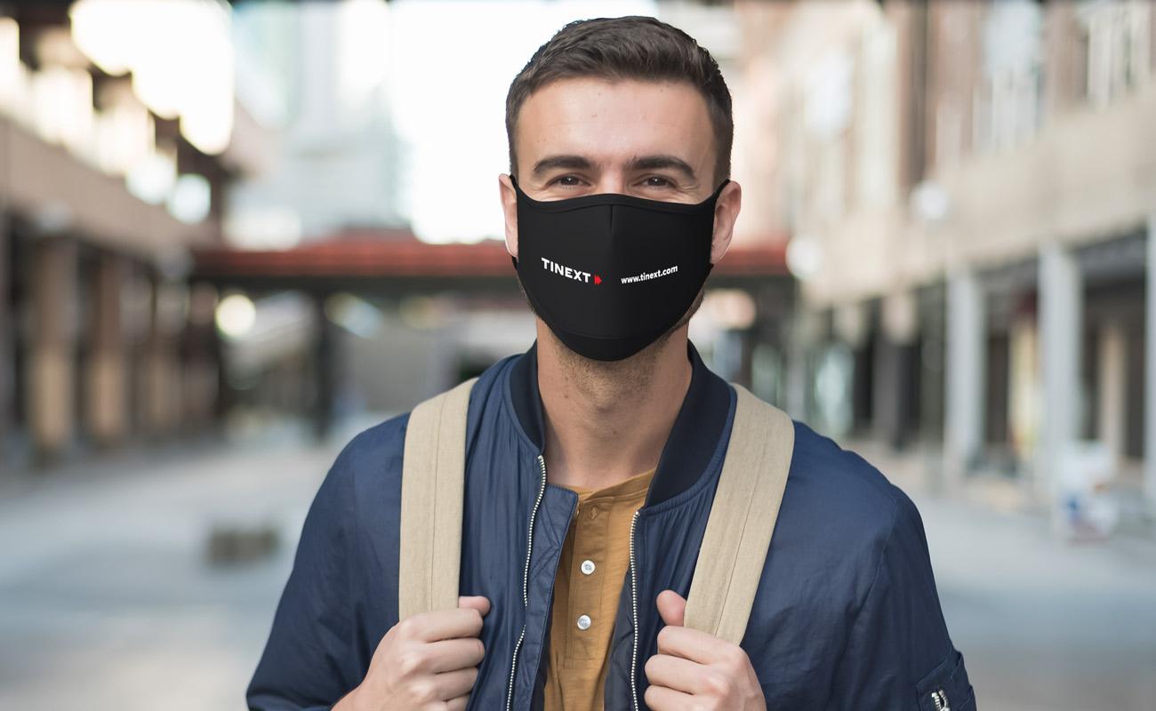 Sky Xtra - Máscaras impressas com logótipo