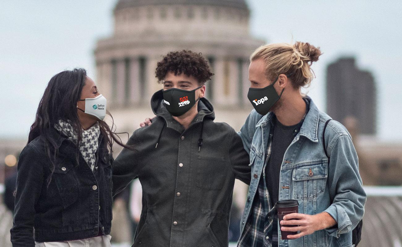 Sky iON - Máscaras reutilizáveis personalizadas